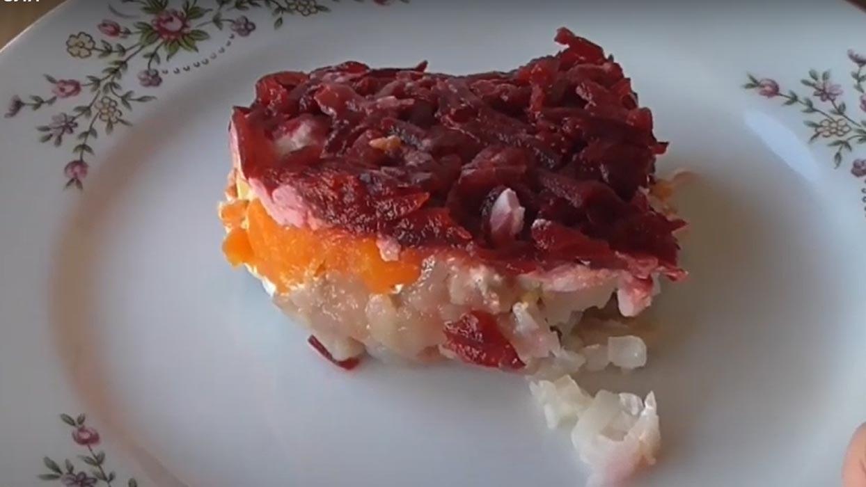 Салат Шуба нежная без картофеля